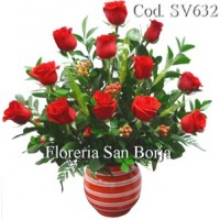 Modelo Amor sin fin - 12 rosas