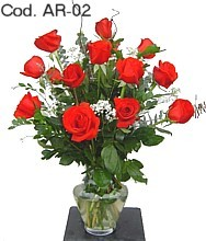 Arrangement with 12 roses 