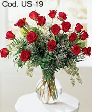 Flower Arrangement with 18 roses