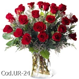 Arrangement with 24 roses
