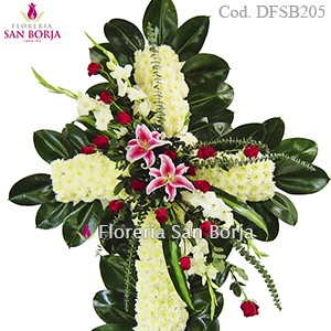 Medium Floral Cross Model D05