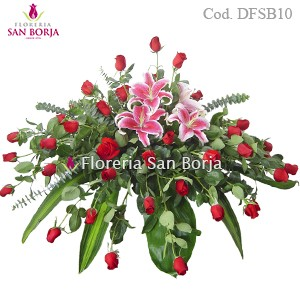D10 Casket Spray - 24 roses