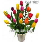 Arrangement with 18 Tulips in Cooler