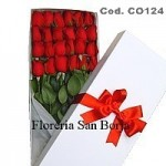 Box with 24 roses
