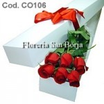 Box with 6 roses
