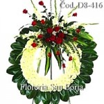D8 Medium Floral Wreath