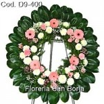 D9 Medium Floral Wreath