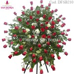 D210 funeral Standing Spray - 72 roses