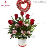 Rosas de Amor Model + medium balloon