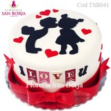 Torta I love u - pedidos 48 horas anticipacion
