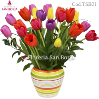 Colorful Paradise Model - 21 tulips