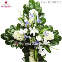 Medium Floral Cross Model D207