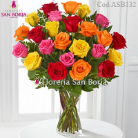 Passion 24 Multicolor Roses