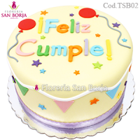 Feliz Cumple Cake - orders with 48 hours