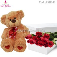 promotion of 12 roses and teddy to Lima