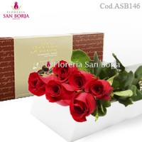 special box with 12 roses to Lima Peru, long stem roses to Lima