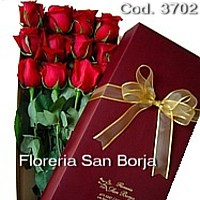 special box with 12 roses to Lima Peru