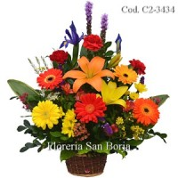 send a beautiful flower bouquets to Pucallpa Peru, basket with colorful fresh flowers to Pucallpa, high quality flowers to Pucallpa