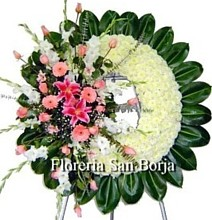 sympathy funeral wreath Peru, symapthy wreath Peru, special funeral flowers to Peru, big funeral flower arrangements to Peru