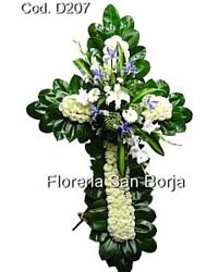 funeral flowers Peru, sympathy crosses to Lima Peru, best selection of funeral flowers to Peru, funeral corsses for delivery in Peru