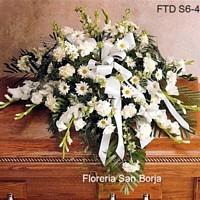 send sympathy casket spray to Huancayo Peru, funeral flowers, fast delivery of sympathy flowers to Huancayo