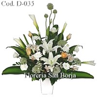 flower arrangement for condolence Lima Peru, flowers for condolence Lima, sympathy flower arrangements Peru