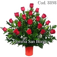 exclusive flower arrangement with lovely flowers to delight her from floreria San Borja Peru