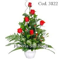 6 roses to Arequipa, beautiful flower arrangements to Arequipa