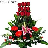 roses, teddy bear and balloon gifts for delivery to Huancayo Peru, florists Huancayo