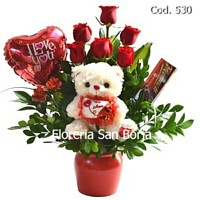 flower gifts Peru, roses, chocolates, plush animal, roses to Peru, anniversary flowers to Lima