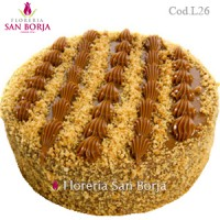 cakes to Peru, vanilla cake covered with milk caramel, send delicious cakes to Lima Peru