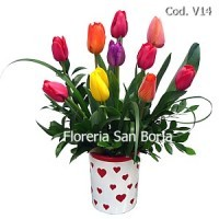 flower promotions tulips lima, delivery of tulips to Lima, flower arrangements to Lima Peru