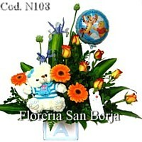 send flowers for new born baby boy Piura, flower stores with fast delivery to Piura
