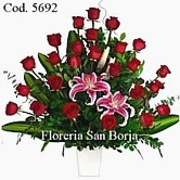 flowers to Lima, multicolor roses in a beautiful ceramic vase, send flowers to Lima Peru
