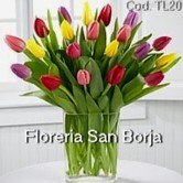 flower arrangements with tulips to Lima, beautiful tulips Lima, colorful tulips to Peru